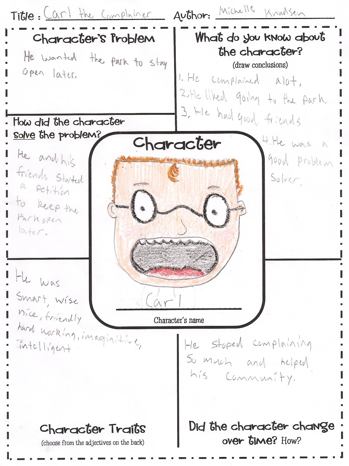 2nd Grade Character Traits Worksheets | New Calendar Template Site