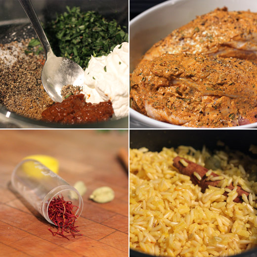 lisa is cooking: Harissa and Yogurt Chicken with Persian-spiced Pilaf
