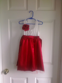 Flower Girl Dress w/silk flower pin