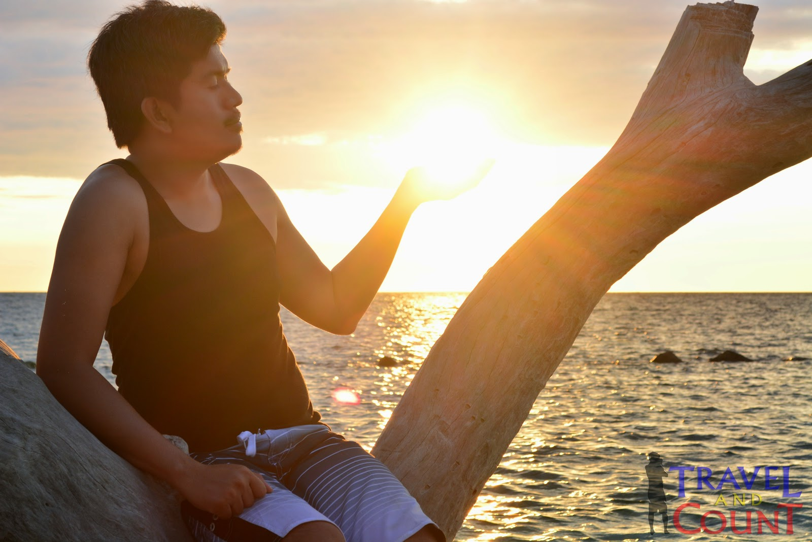 Sunset at Potipot Island in Zambales