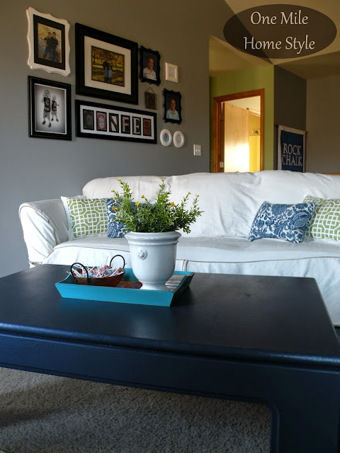 Go Bold With A Navy Coffee Table | One Mile Home Style
