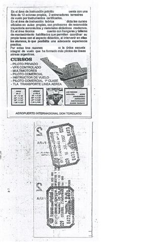 Cursos de vuelo en Morón y en San Fernando