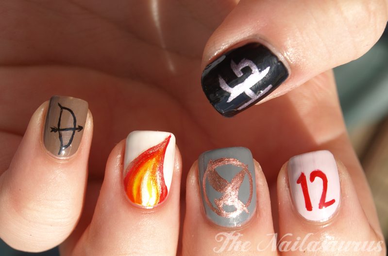May The Odds Be Ever In Your Favour The Hunger Games Nail Art