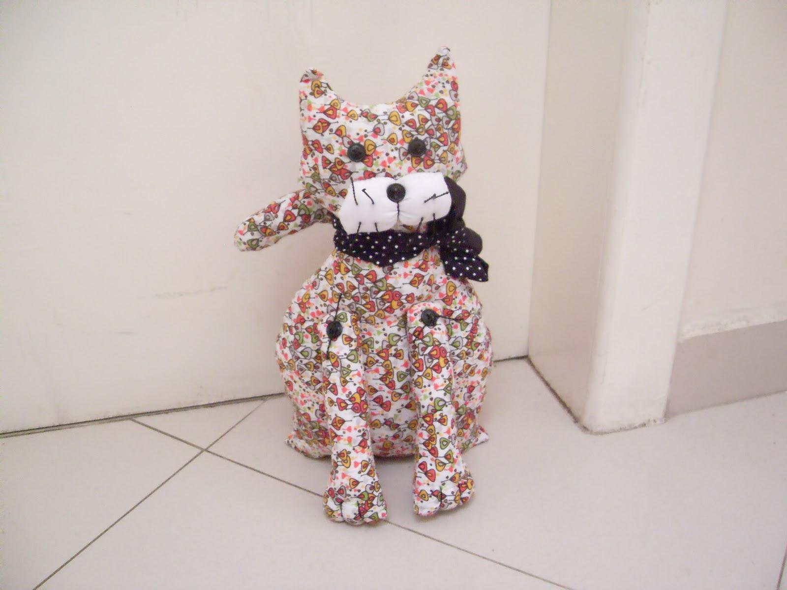 Carinho e Artesanato: Peso de Porta Gato #925F39 1600 1200