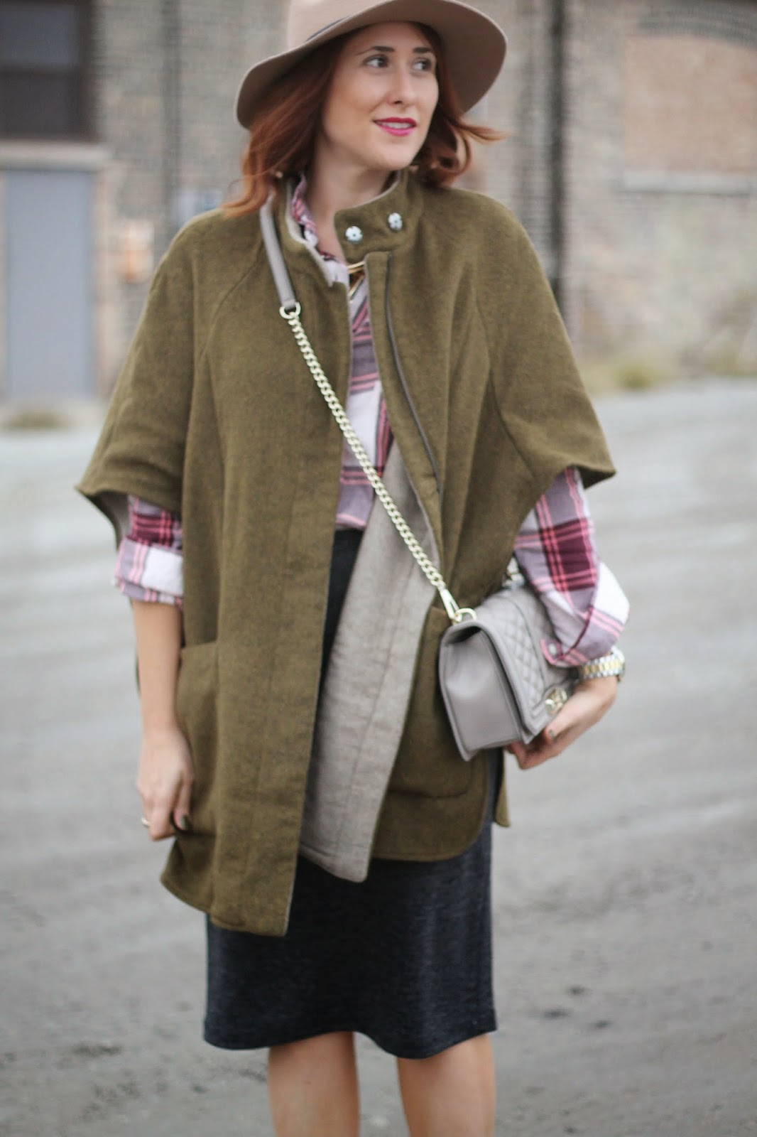 cape, coat, zara, green, wool