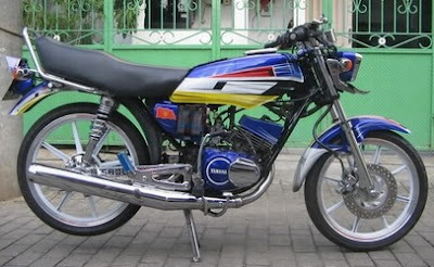 Modifikasi RX King Mantaf Blue Super