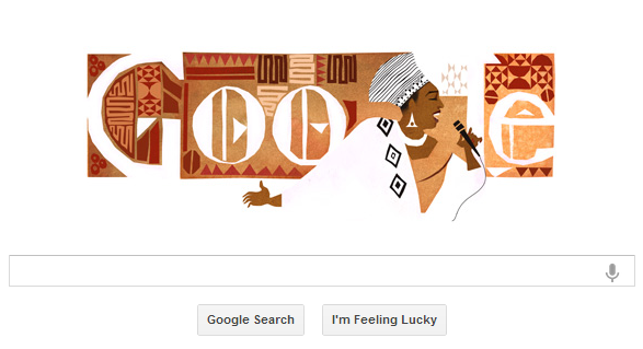 Miriam Makeba's google doodle