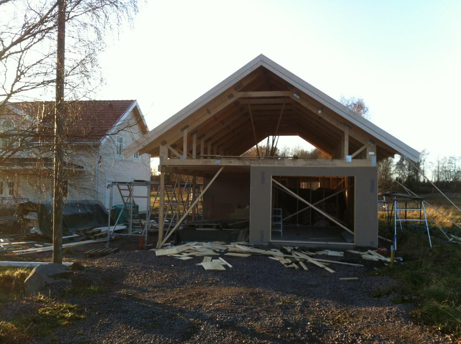 Vi bygger villa Tranan: Garage!!!