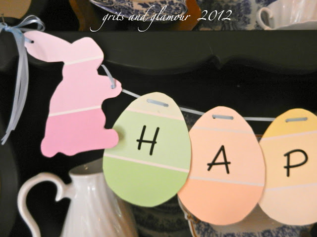 DIY Easter Egg Paint Chip Garland  /  The Everyday Home  / www.everydayhomeblog.com