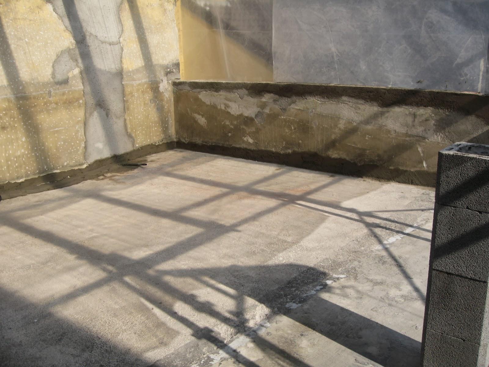 Armiento impermeabilizzazione terrazzo con membrana minerale