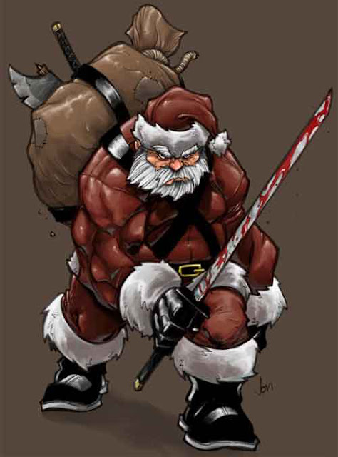 christmas art ideas santa claus greetings
