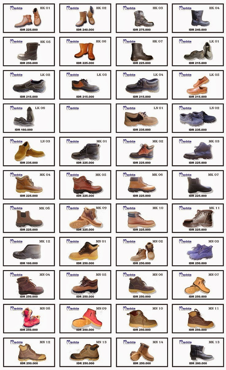 catalogue safety shoes madda - katalog sepatu safety madda