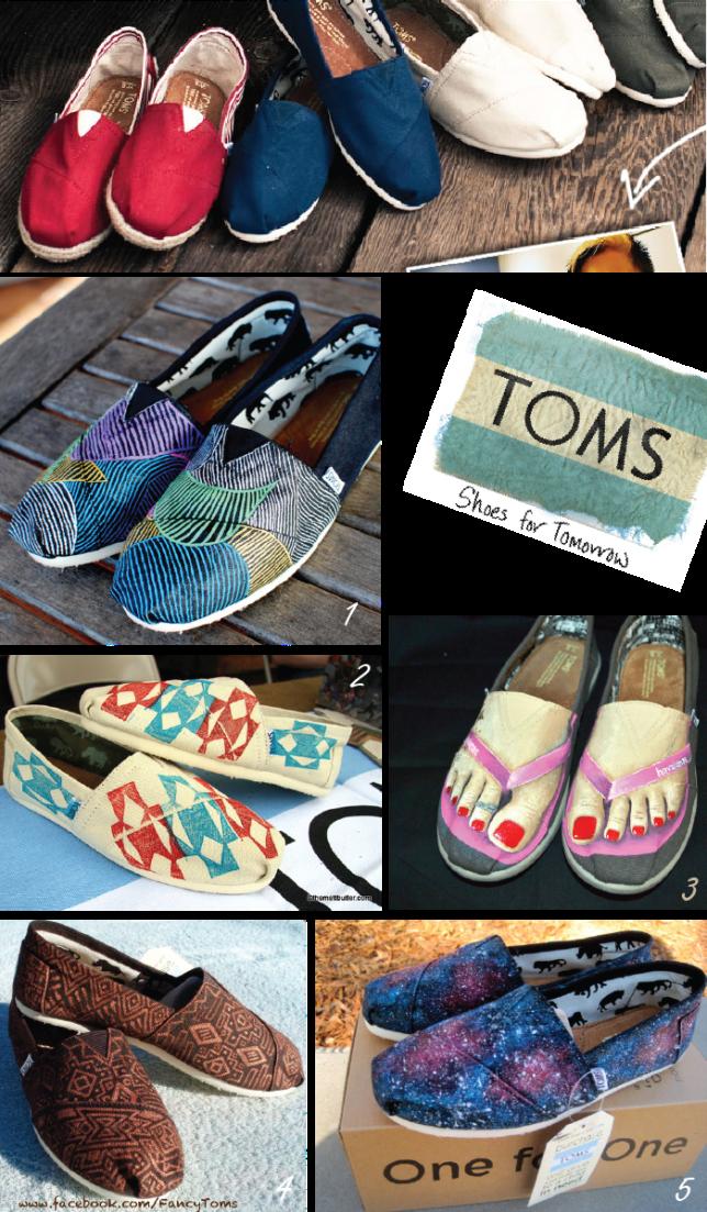 TOMS shoes, Etsy designs
