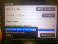 how to find out bbm version