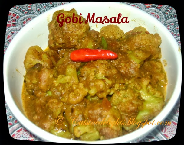 All new cooking recipes gobi masala without onion and garlic i cook it without onion and garlic the spices and masala added makes curry more flavorful and tasty it can be served with naan chapathi poori or jeera forumfinder Choice Image