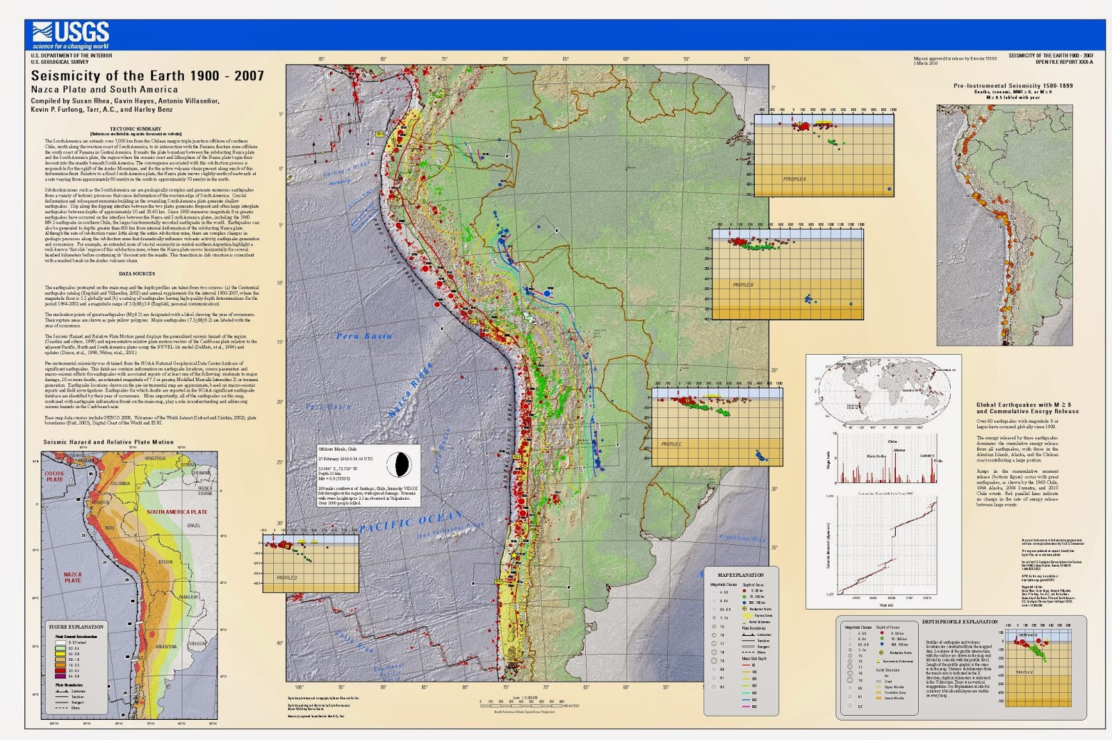 the south american arc extends over 7 000 km from the chilean margin triple junction offshore of southern chile to its intersection with the panama