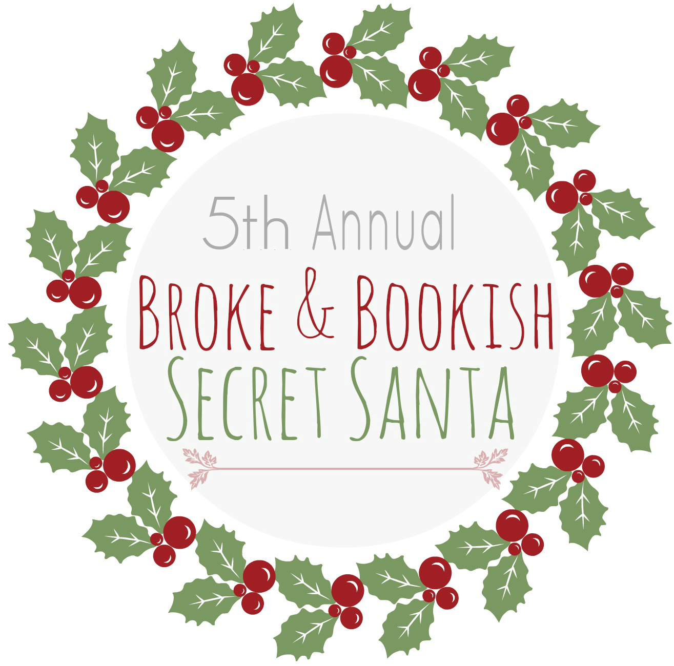 http://www.brokeandbookish.com/2014/11/5th-annual-secret-santa-sign-ups.html