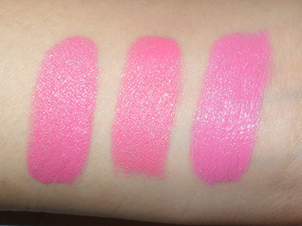 Swatches Mac Pink Nouveau Swatches L-to-r Mac Pink