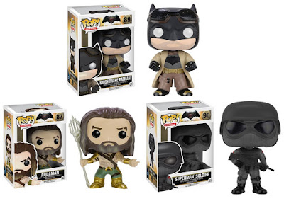 Batman v Superman: Dawn of Justice Pop! Series Vinyl Figures by Funko - Knightmare Batman, Aquaman & Superman Soldier