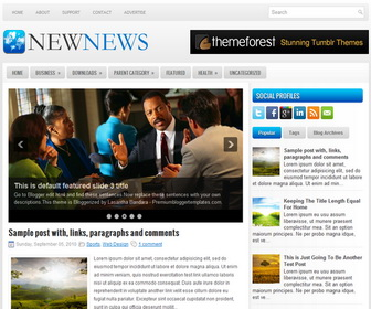 Newnews 2 Column Blogger Template