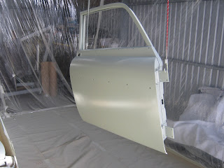 Door with two coats epoxy primer