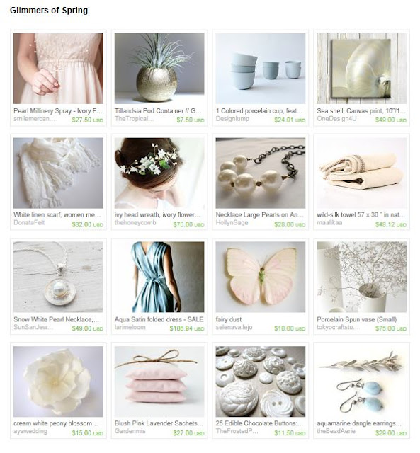 etsy treasury, etsy finds, springtime gift ideas, etsy gift ideas, spring treasury list, pastel pink gifts, handmade gifts