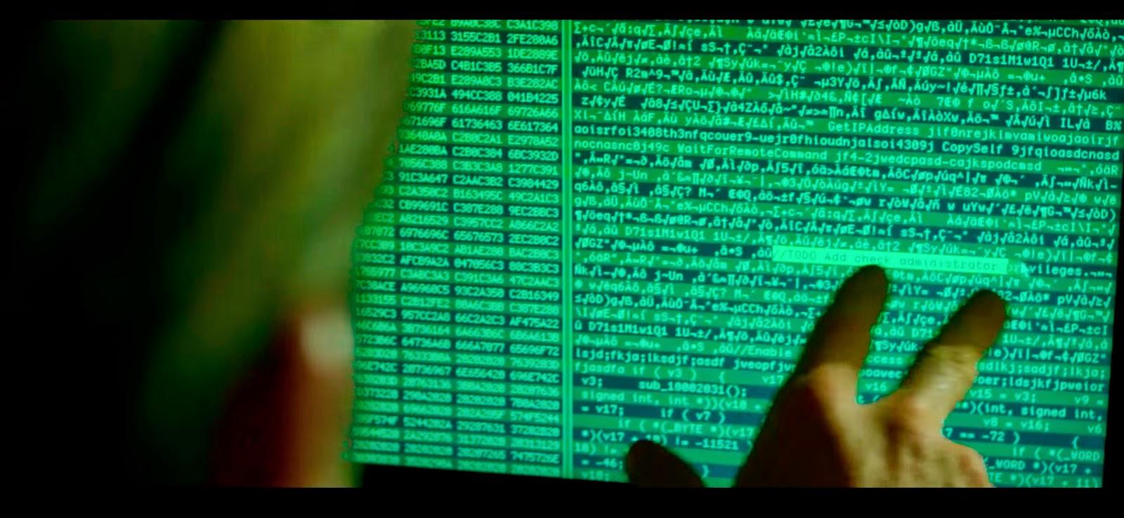 """""""Esta parte del código, es una mierda""""... y la película también."""