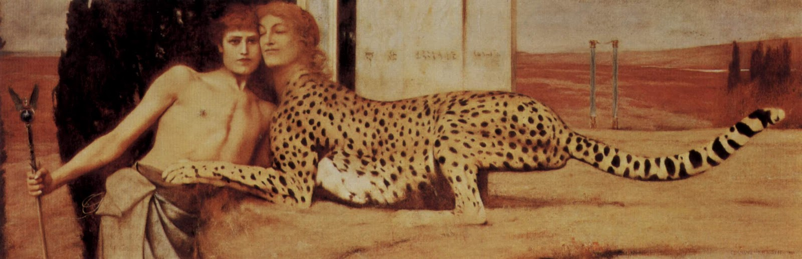 Fernand Khnopff sphinx caress