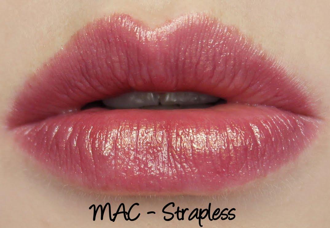mac monday formal black strapless lipstick swatches