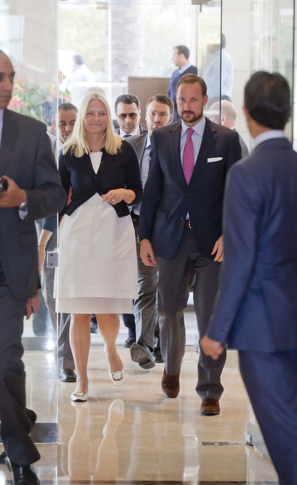 Crown Prince Haakon and Crown Princess Mette-Marit visits the Jordan