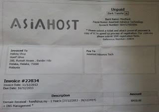Pembayaran Domain .my