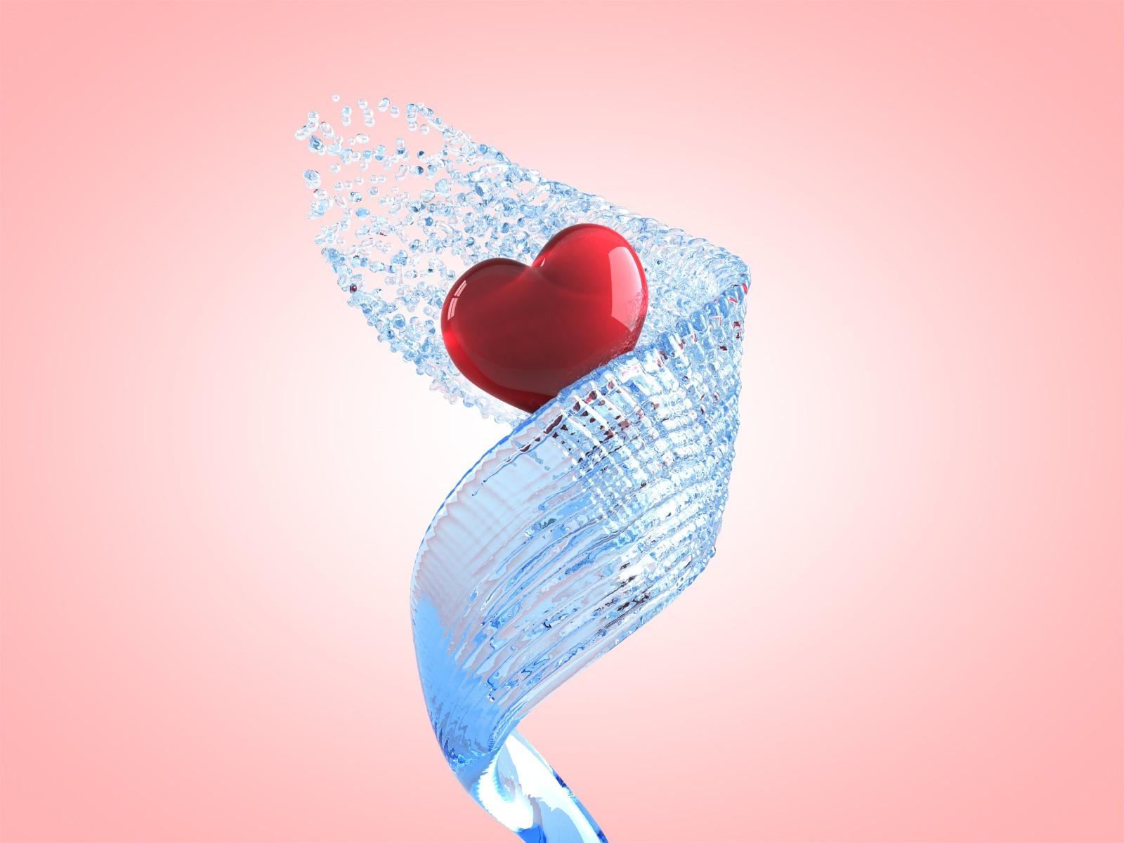 beautiful 3d love heart - photo #22
