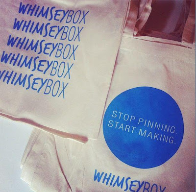 tote bag that says Stop Pinning, Start Making - Whimseybox