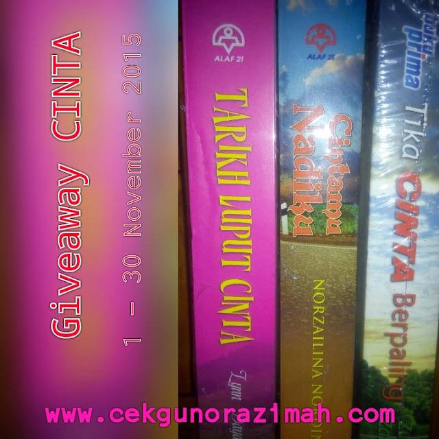 giveaway, giveaway novel, giveaway cinta