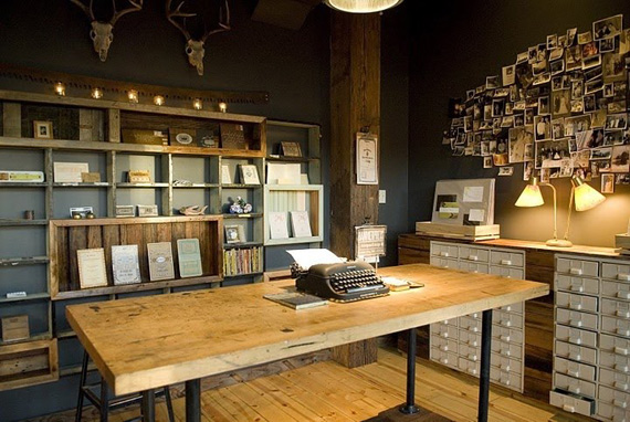 Vintage Farmhouse Home Office Inspiration