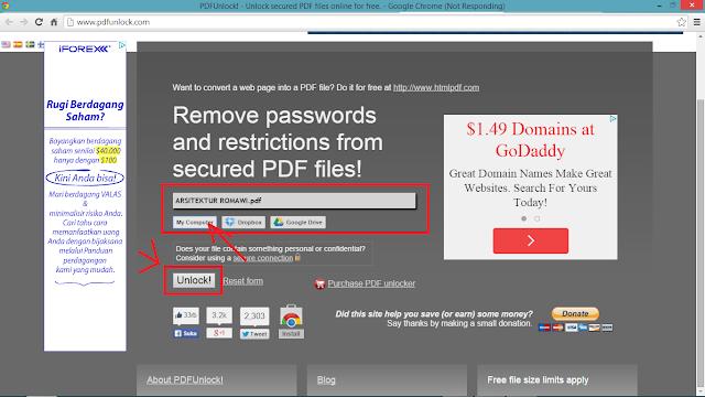 Cara Mudah Membuka PDF yang terkunci (SECURED)