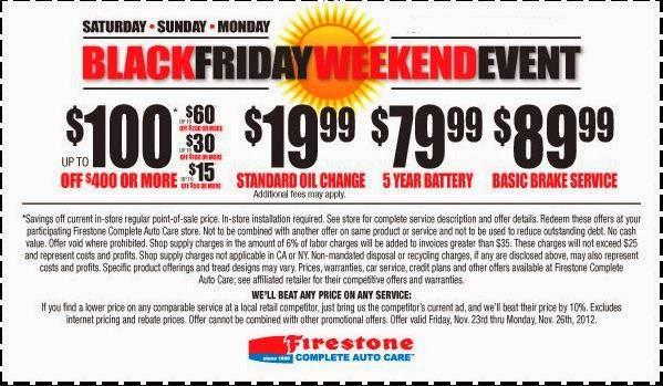 Firestone Printable Coupons February 2015