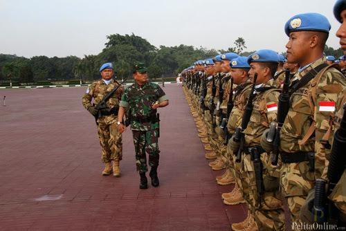 Ribuan Prajurit TNI Berangkat ke Libanon