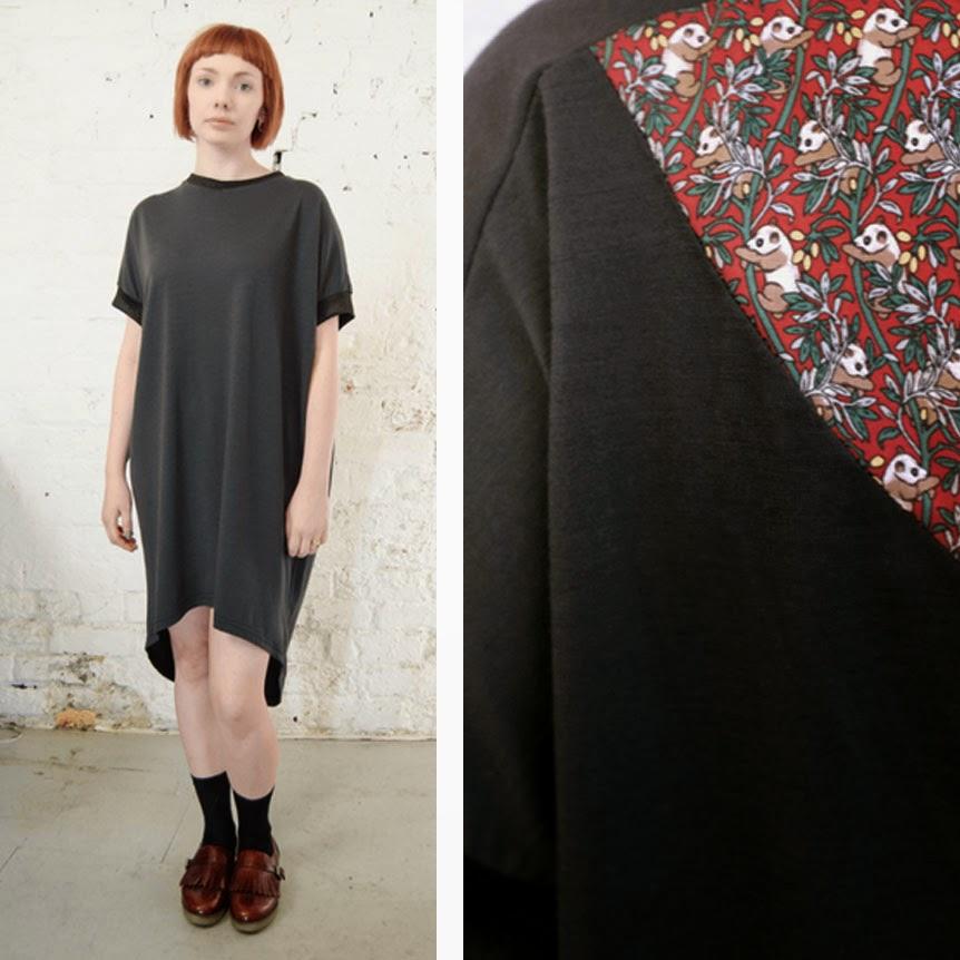 Ma Bicyclette - Buy Handmade - Clothing For Women - ANTIFORM - Oversized Dress in Panda Print