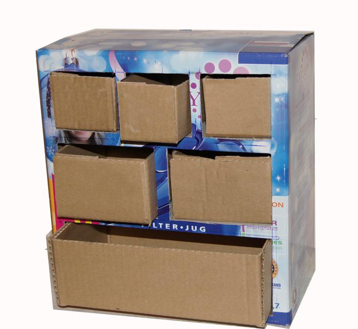 Ящики из картонных коробок своими руками