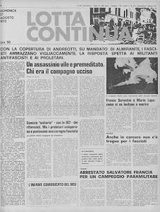 LOTTA CONTINUA 27 AGOSTO 1972