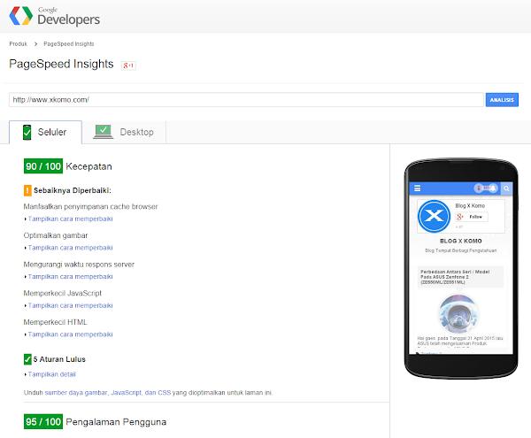 Pagespeed tool Google untuk SEO blog
