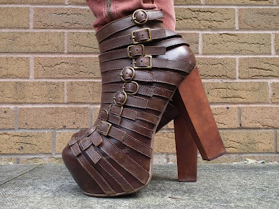 Jeffrey Campbell brown wrecker boots