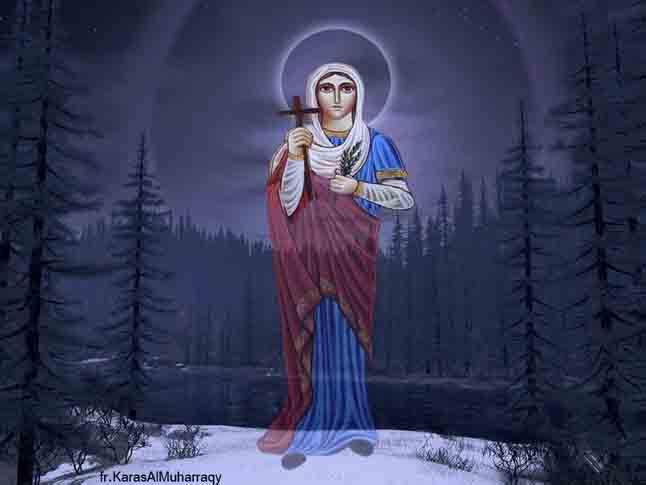 صور القديسة مارينا من تصميم الراهب القمص كاراس المحرقي