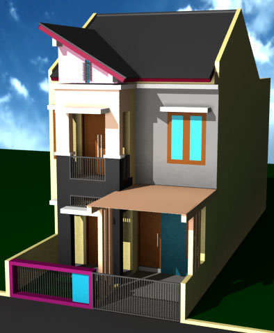 Desain Rumah Minimalis Type 36 Lantai 2