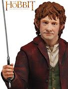 . herói Bilbo Bolseiro esculpido com técnica fotorealística.