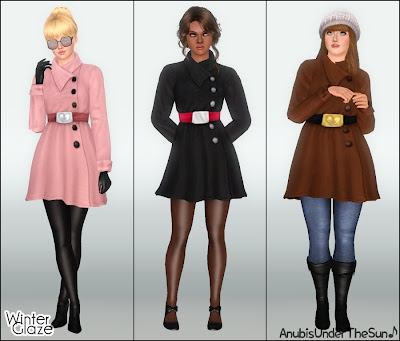 Empire Sims 3: Winter Glaze ~ Outerwear Coat for Teen-to ...