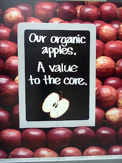 """Our organic apples. A value to the core."""
