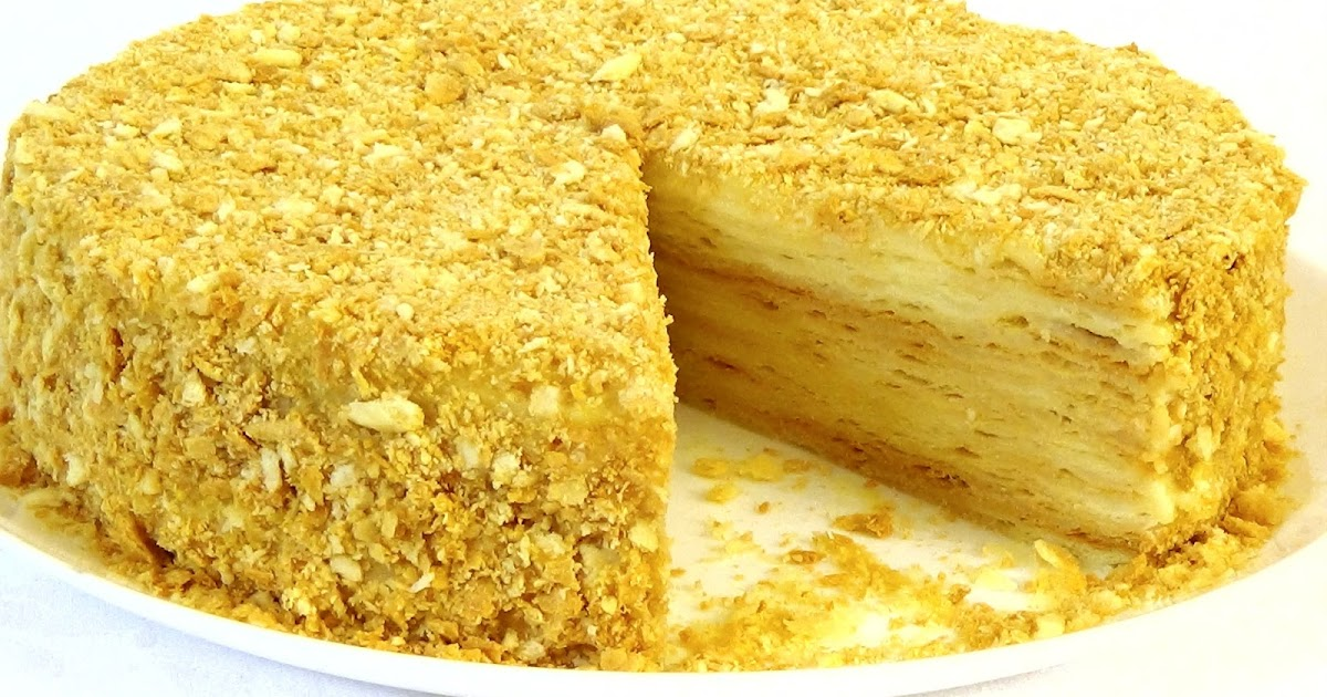 Как испечь торт наполеон в домашних условиях  909