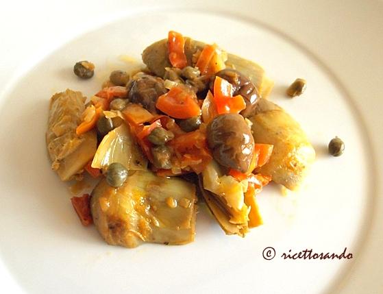 Carciofi in guazzetto ricetta vegetariana dalla tradizione siciliana